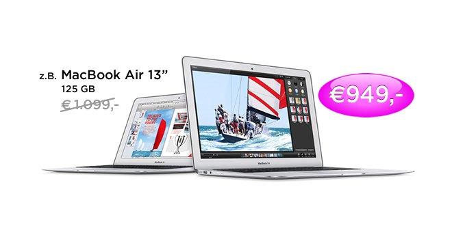 150 € Gutschein für MacBook Air, MacBook Pro, iMac und Mac Pro
