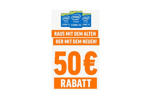 50 Euro Gutschein für Foto des alten Laptops oder Rechners