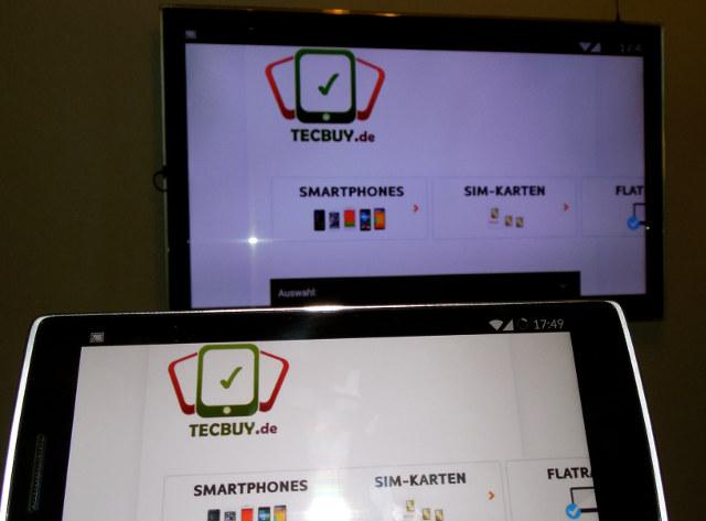 Smartphone zum Smart TV spiegeln